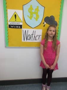 Klaudia our weather reporter